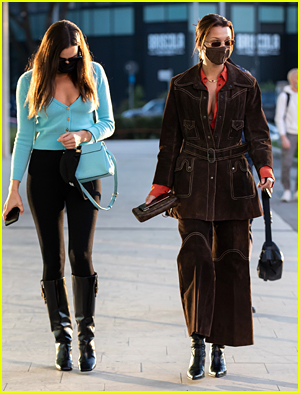 Bella Hadid and Irina Shayk in Milan