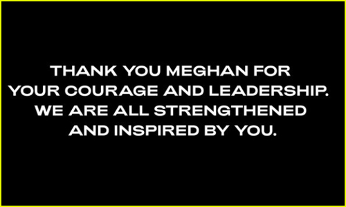 Beyonce sends message to Meghan