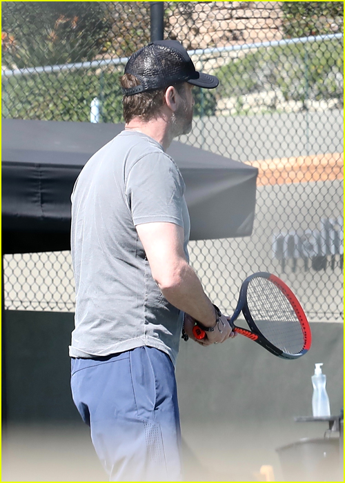Gerard Butler at the Tennis Courts in Malibu