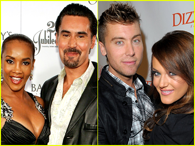 Vivica A Fox and Lance Bass with their dancing partners