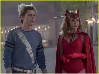 Evan Peters and Elizabeth Olsen in WandaVision