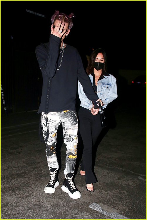 Machine Gun Kelly and Megan Fox at dinner in LA