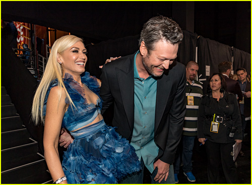 Gwen Stefani and Blake Shelton at the People's Choice Awards 2017