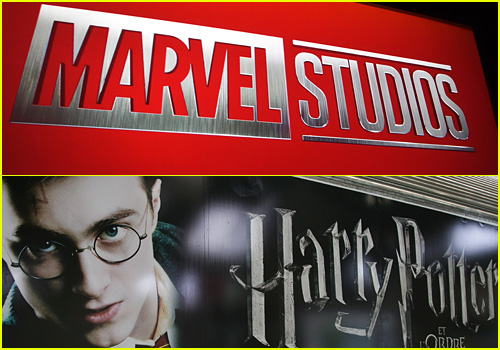 Harry Potter and Marvel film logos