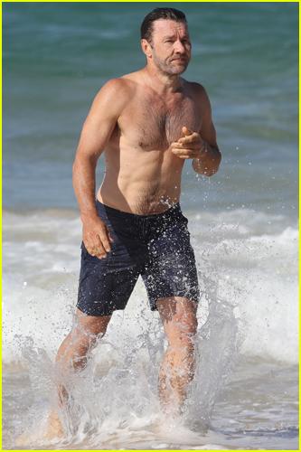 Joel Edgerton at the beach