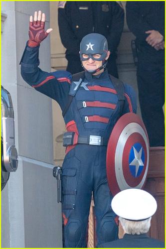 Photo of Wyatt Russell as Captain America