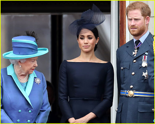 Queen Elizabeth with Meghan and Harry