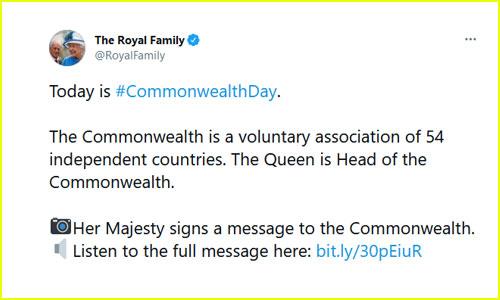 Royal Family Tweet