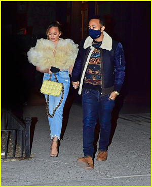 Chrissy Teigen and John Legend in New York City