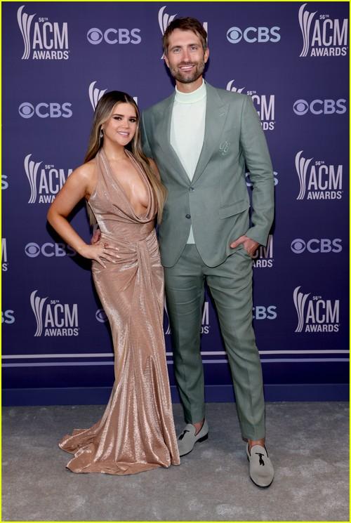 Maren Morris and Ryan Hurd at the ACM Awards 2021