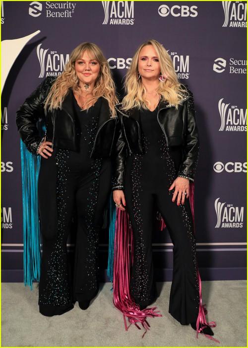 Elle King and Miranda Lambert at the ACM Awards 2021
