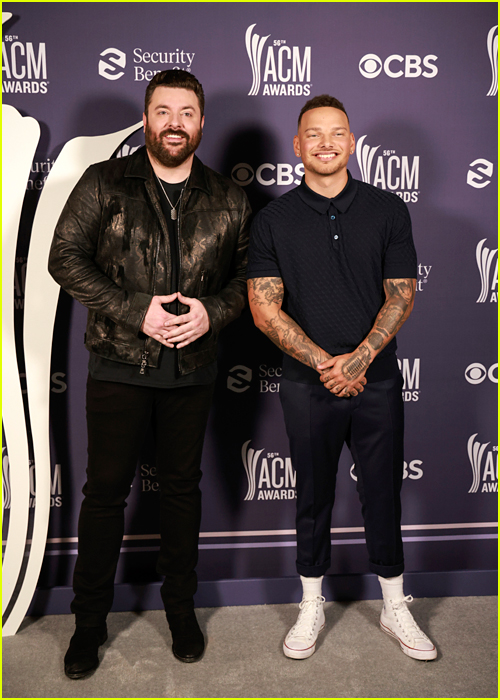 Chris Young and Kane Brown at the ACM Awards 2021