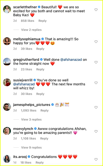 Afshan Azad Pregnancy Reactions