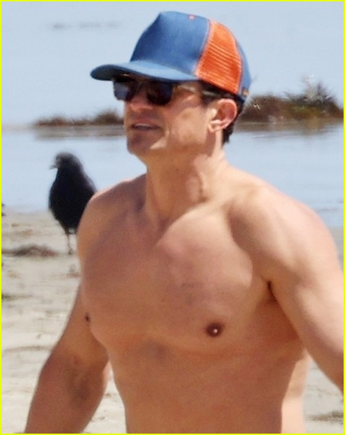 Orlando Bloom at the beach