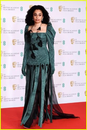 Celeste 2021 BAFTAs red carpet