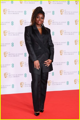 Clara Amfo 2021 BAFTAs red carpet