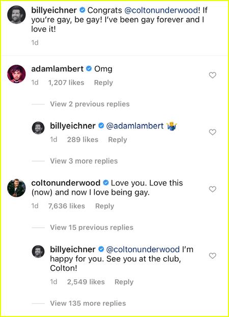 Billy Eichner Instagram comments