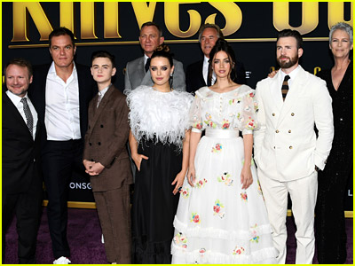 Knives Out cast at world premiere