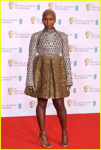 Cynthia Erivo 2021 BAFTAs red carpet