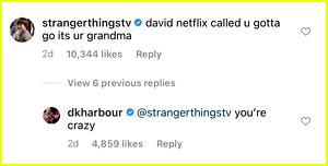 Replies to David Harbour's Live