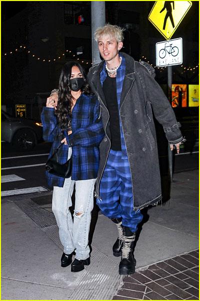 Megan Fox & Machine Gun Kelly leaving a dinner date