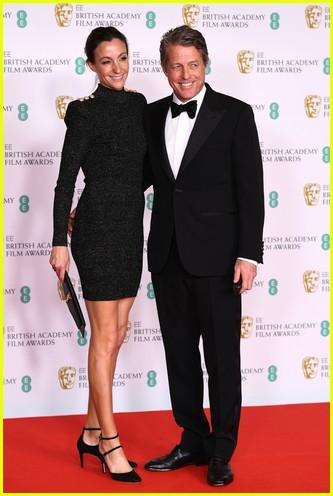 Hugh Grant Anna Elisabet Eberstein 2021 BAFTAs red carpet