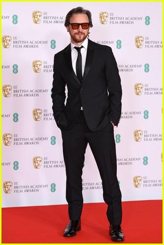 James McAvoy 2021 BAFTAs red carpet