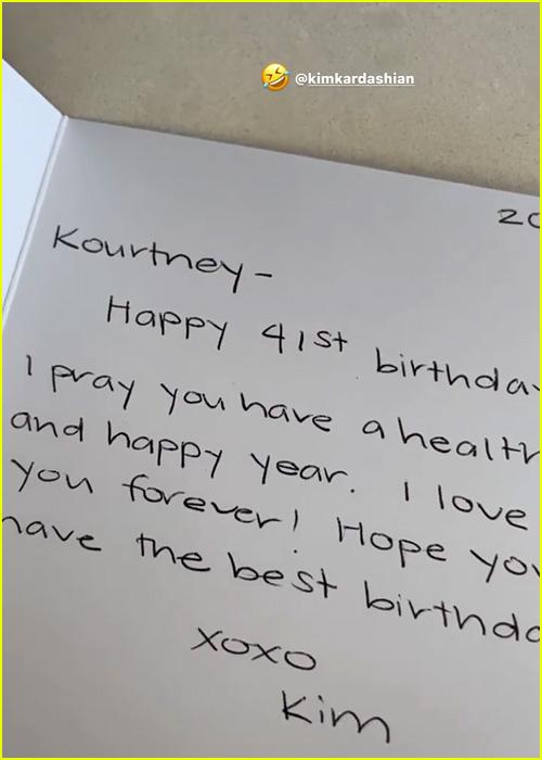 Kim Kardashian's Birthday Card
