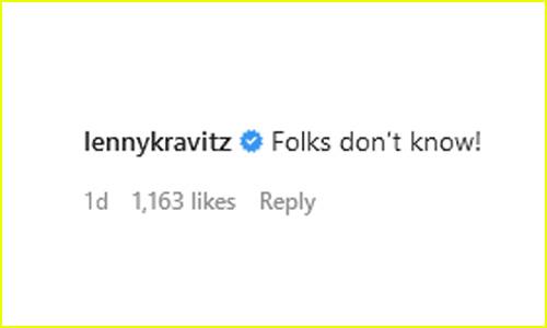 Lenny Kravitz Comment