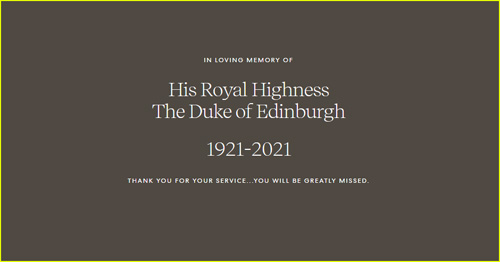 Meghan Markle and Prince Harry's official website page updates with a message