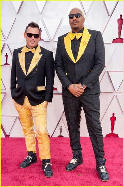 Travon Free and Martin Desmond Roe at the Oscars