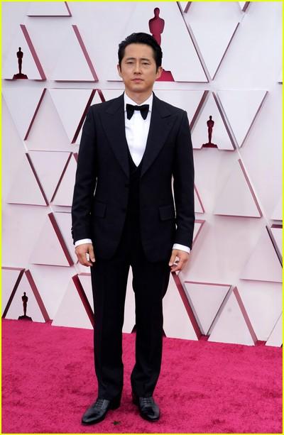 Steven Yeun at the Oscars