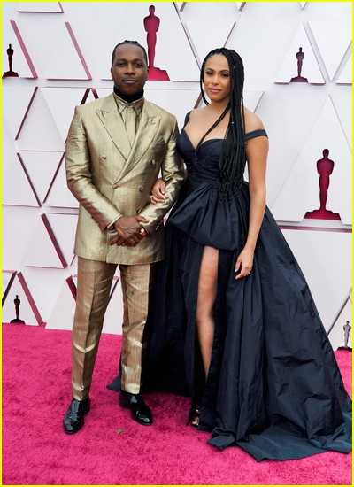 Leslie Odom Jr and Nicolette Robinson at the Oscars
