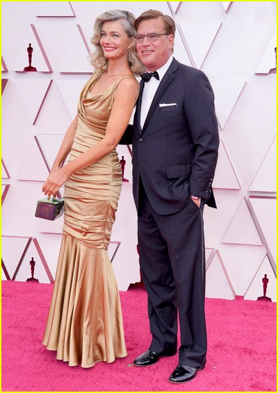 Aaron Sorkin and Paulina Porizkovaat the Oscars