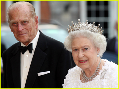 Prince Philip and Queen Elizabeth on red carpet