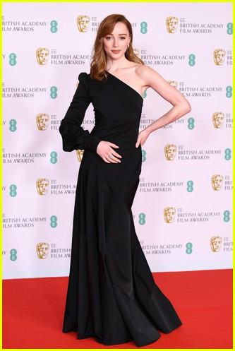 Phoebe Dynevor BAFTAs red carpet