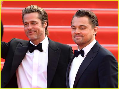 Brad Pitt and Leonardo DiCaprio on the red carpet