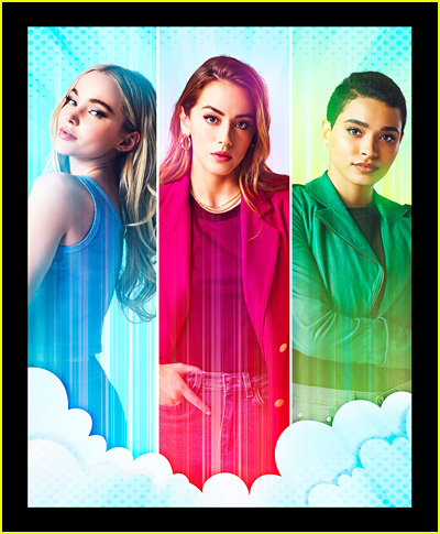 Dove Cameron as Bubbles, Chloe Bennet as Blossom and Yana Perrault as Buttercup