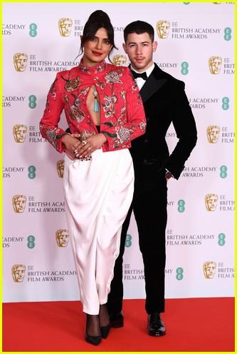 Priyanka Chopra & Nick Jonas 2021 BAFTAs red carpet