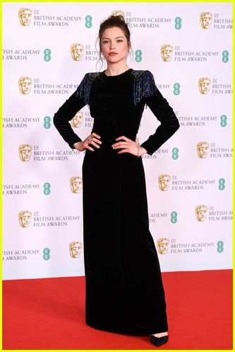 Sophie Cookson 2021 BAFTAs red carpet
