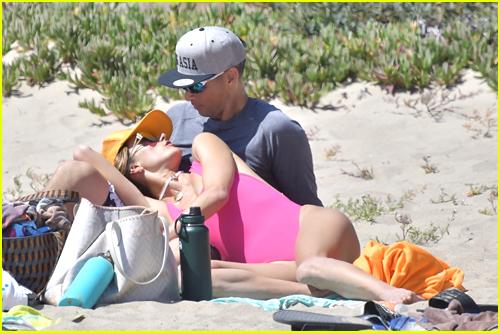 Alessandra Ambrosio & Richard Lee on the beach