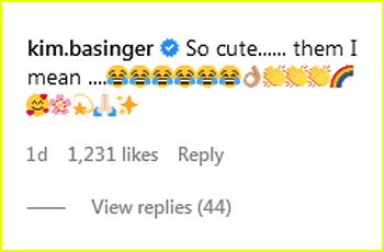 Kim Basinger comment on Alec Baldwin post