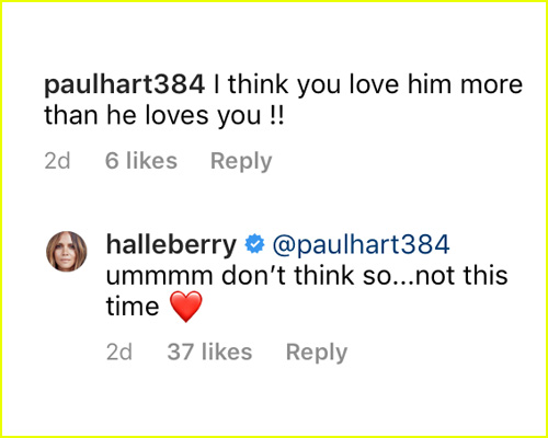Halle Berry's comment