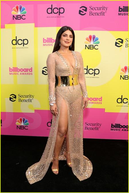 Priyanka Chopra on the Billboard Music Awards 2021 red carpet