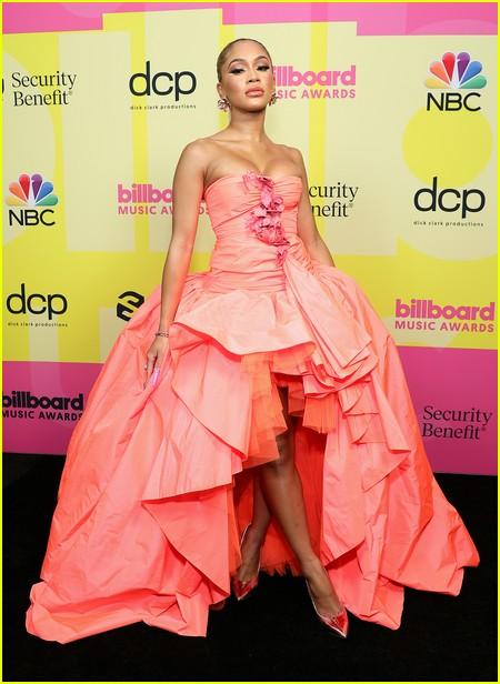Saweetie on the Billboard Music Awards 2021 red carpet