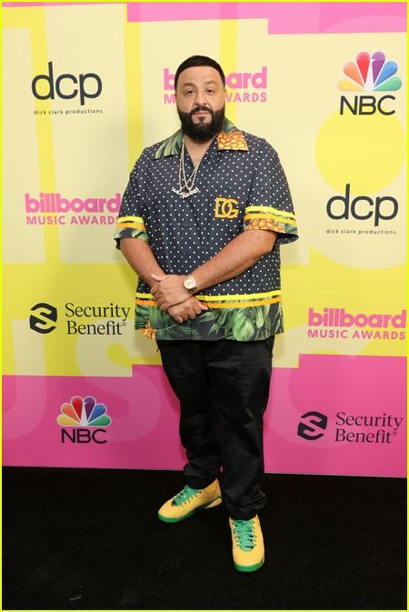 DJ Khaled on the Billboard Music Awards 2021 red carpet