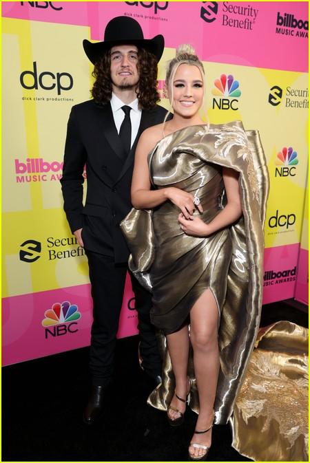 Gabby Barrett and Cade Foehner on the Billboard Music Awards 2021 red carpet