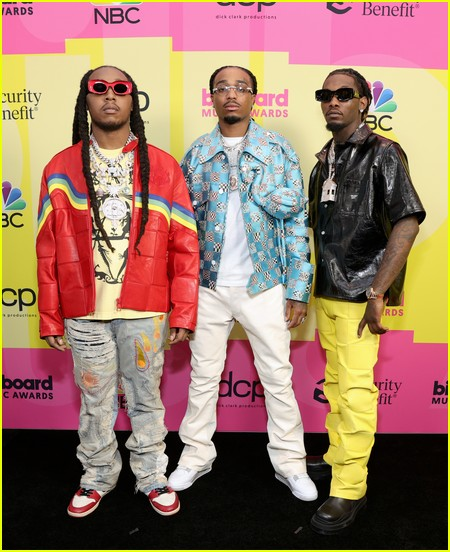 Migos on the Billboard Music Awards 2021 red carpet