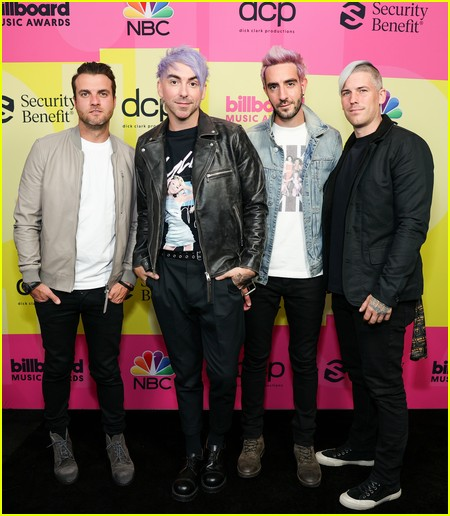 All Time Low on the Billboard Music Awards 2021 red carpet