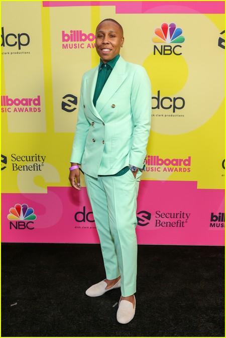 Lena Waithe on the Billboard Music Awards 2021 red carpet